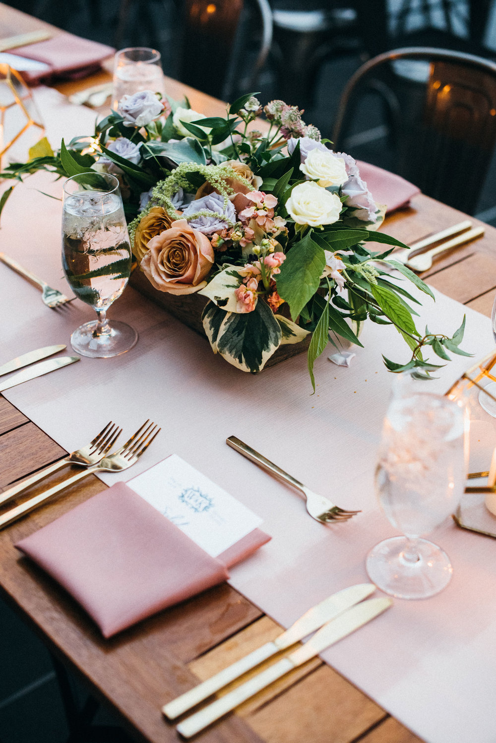Flowers by Fleur, Photo by Couple of Dudes Photography, Planning by Estera Events at Morgan's on Fulton.
