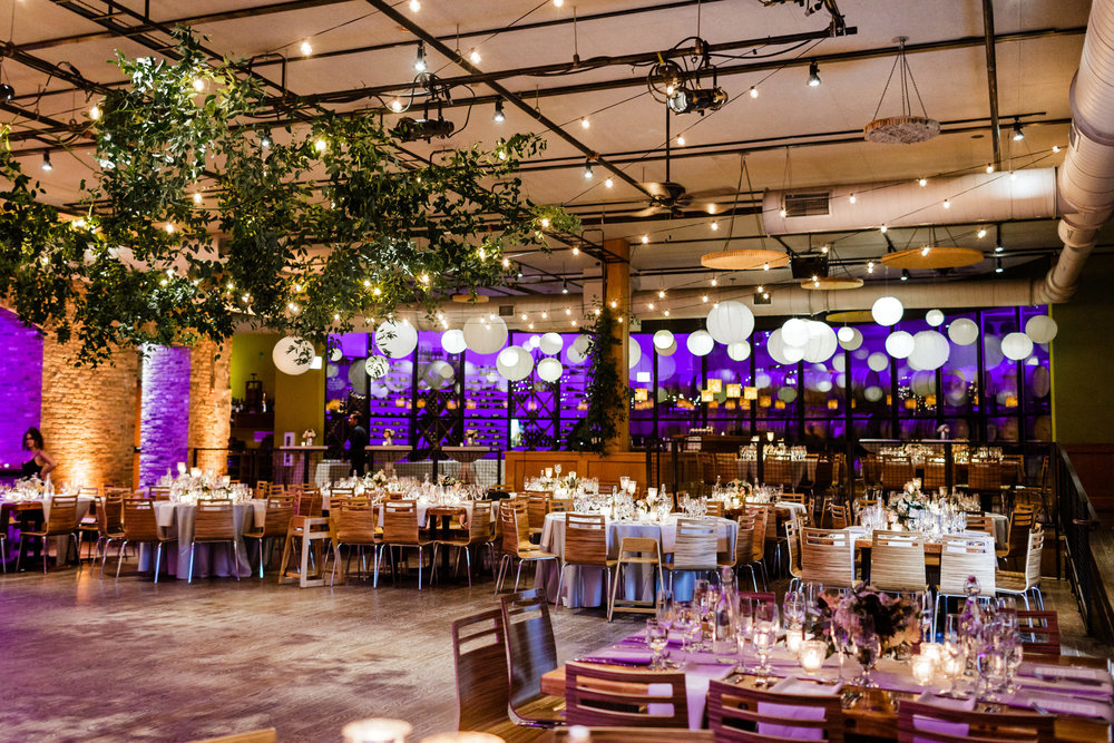 Flowers by Fleur Inc, Photo by Jill Tiongco Photography, Planning by Shannon Gail Events and location at Chicago City Winery.