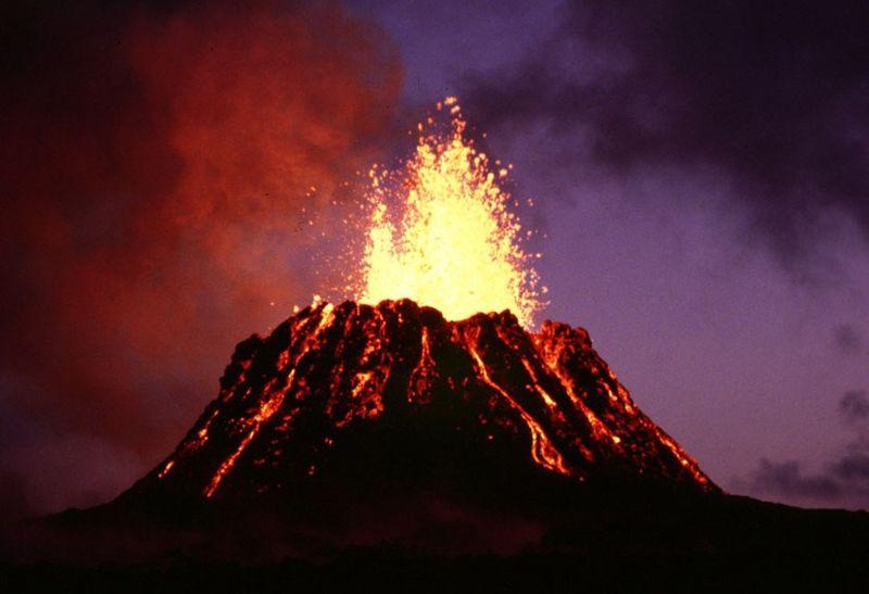 Volcanic cone Pu'u 'O'o on Kilauea, Hawaii