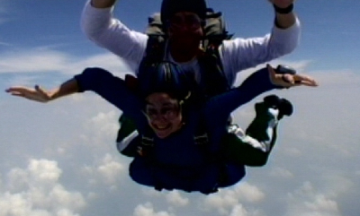 This is me going skydiving a couple years ago. It was one of the most fun things I've ever done!