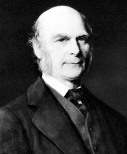 Sir Francis Galton, painted in 1882.