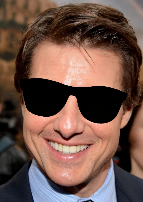 What color are Tom Cruise's eyes? Do you use your visual memory to help you remember?