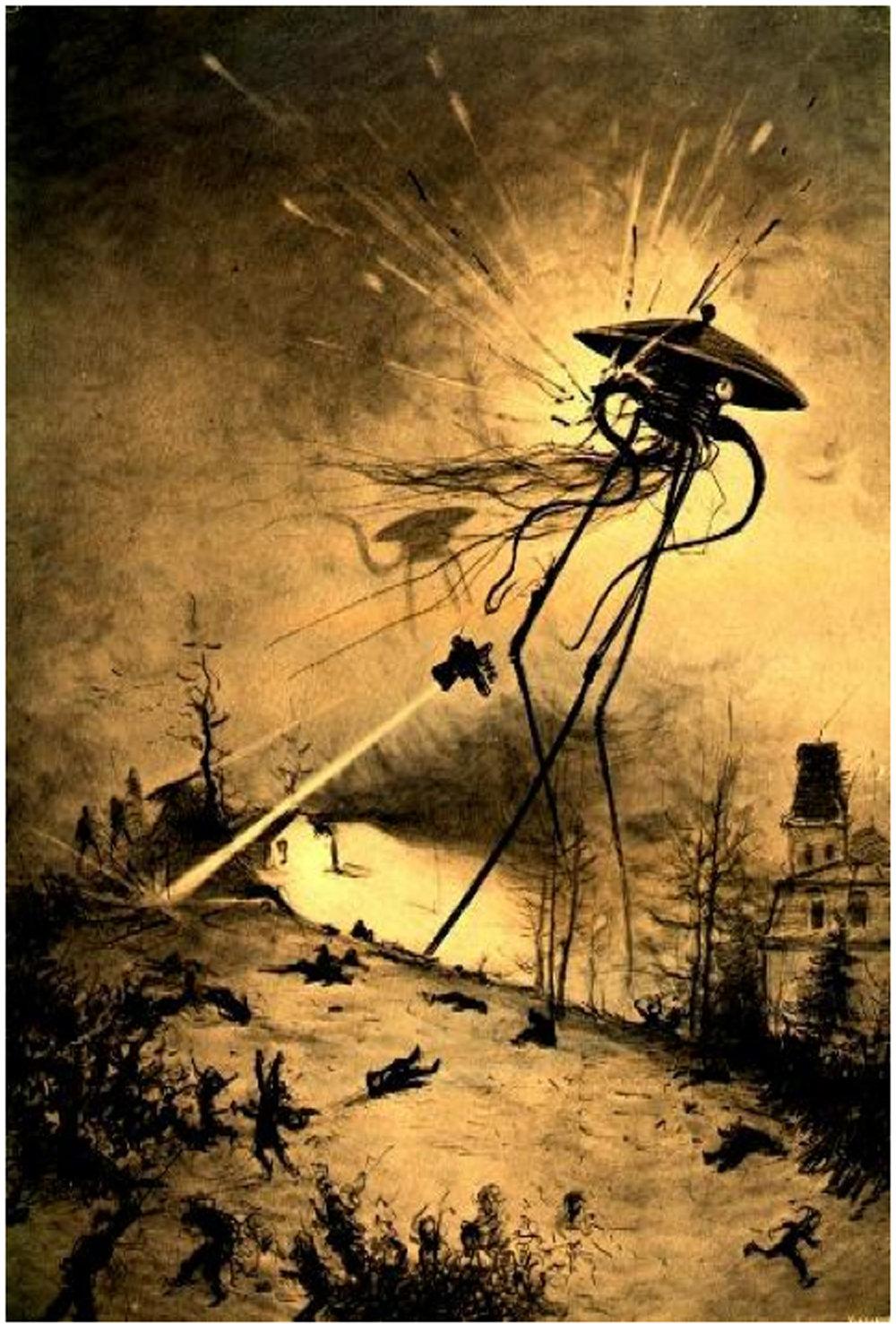 War of the Worlds original illustration.
