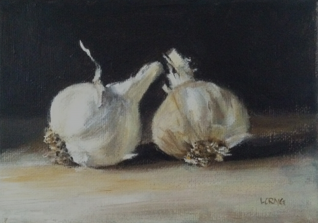 Garlic , acrylic on canvas