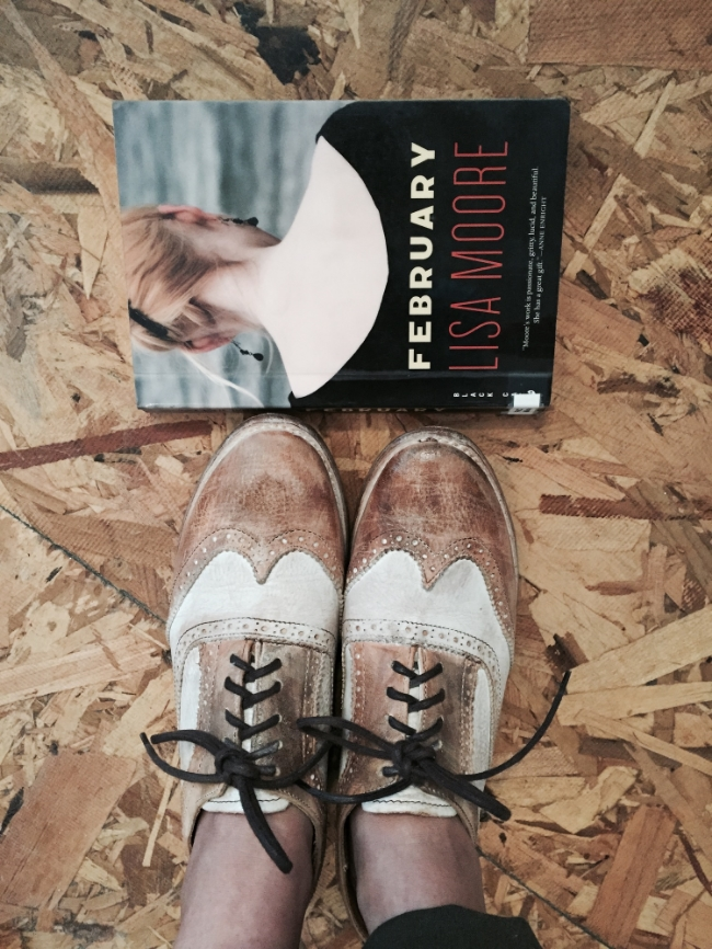I took the photo of the book with my new shoes because I love my new shoes!