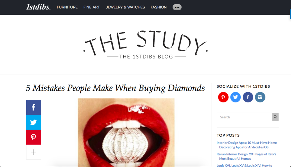 Diamond buying guide for design e-commerce site