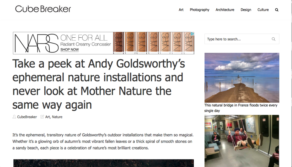 Andy Goldsworthy article