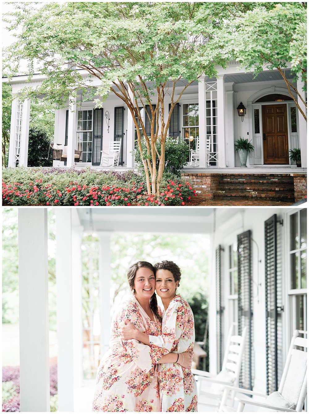 Lakyn rented this GORGEOUS house to get ready at & I'm so glad she did! The home had southern elegance written all over it. The girls snuggled on couches as they got ready and wore these adorable robes.