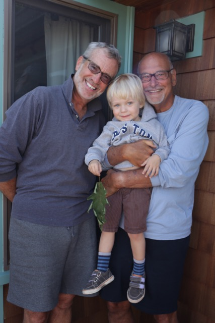 Brian, left, and Gene, right, with our son Oliver.