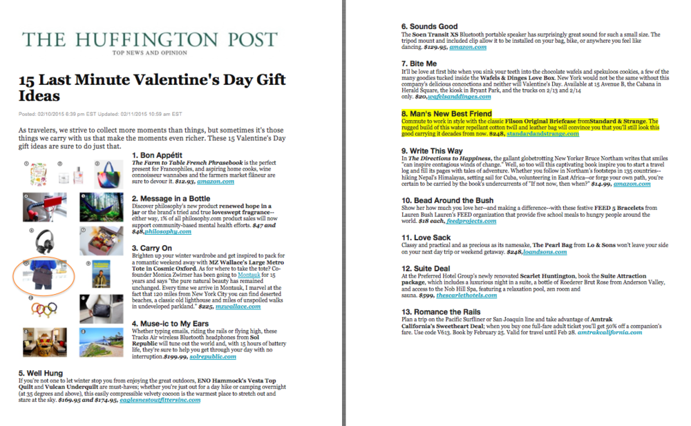 Huffington Post Valentine's Day Guide