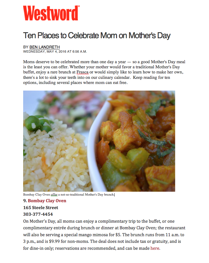 Westword Mother's Day