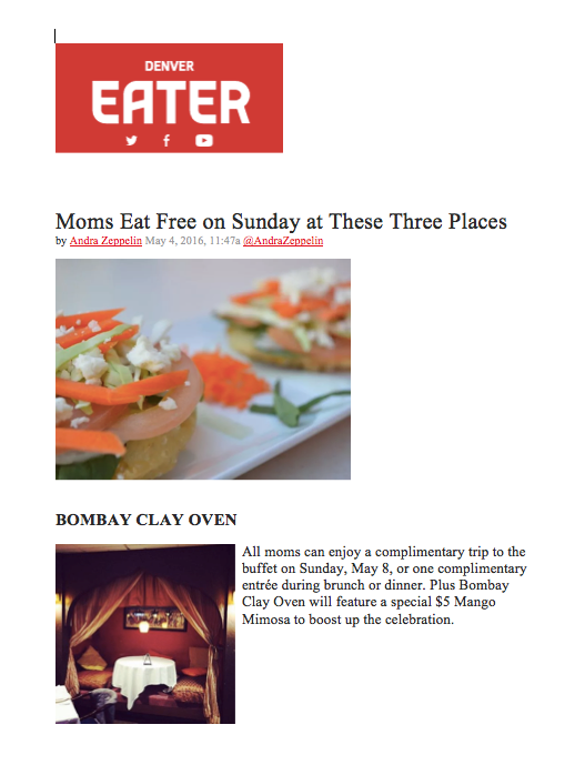 Eater Mother's Day
