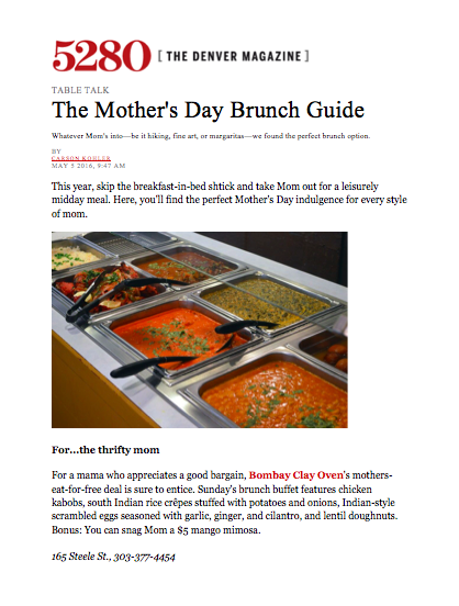 5280 Magazine Mother's Day