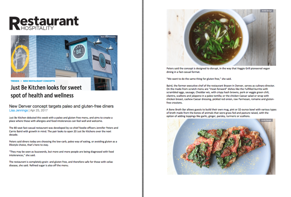 Restaurant Hospitality Magazine Opening Feature
