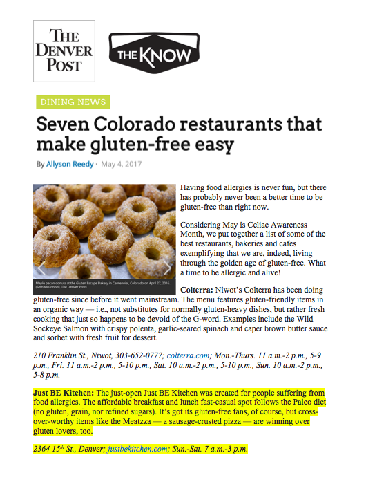 Denver Post The Know Gluten Free Roundup