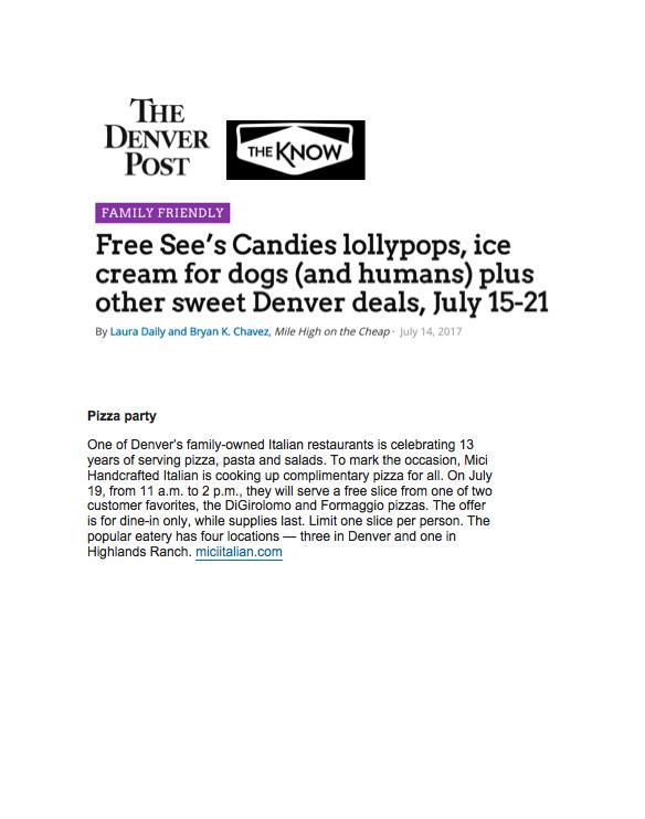 Denver Post Anniversary Special