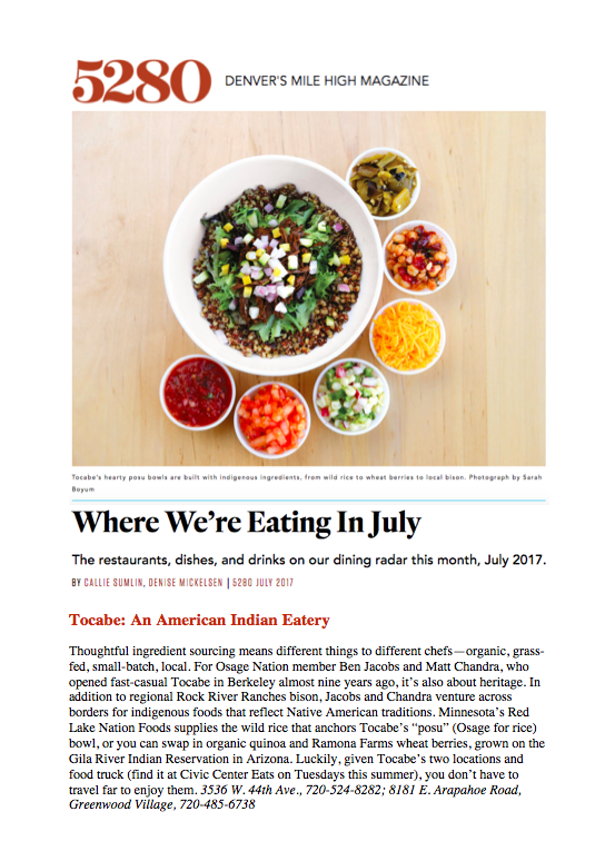 5280 Magazine What We're Eating July