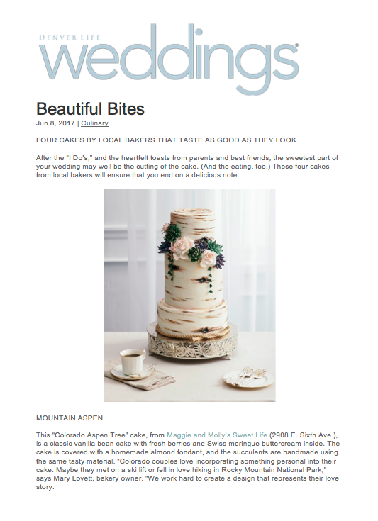 Denver Life Magazine Cake Feature