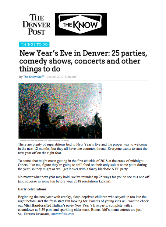Denver Post The Know Kids' New Year's Eve