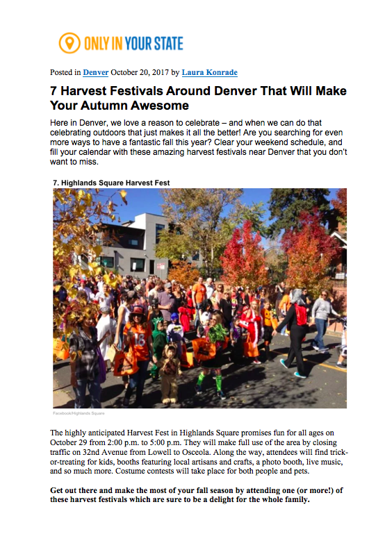 Only in Your State Harvest Festival