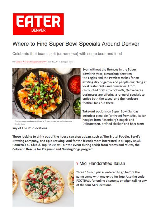 Eater Super Bowl