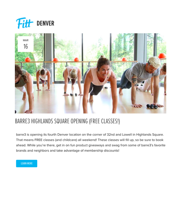 Fitt Denver Highlands Opening
