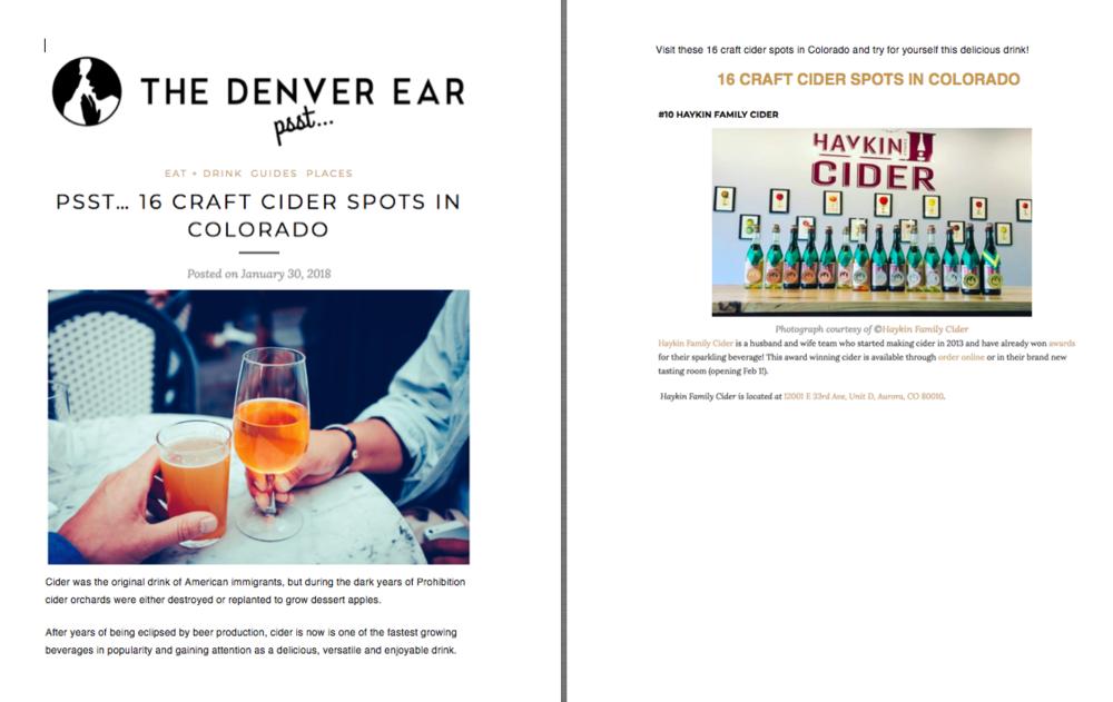 The Denver Ear Opening