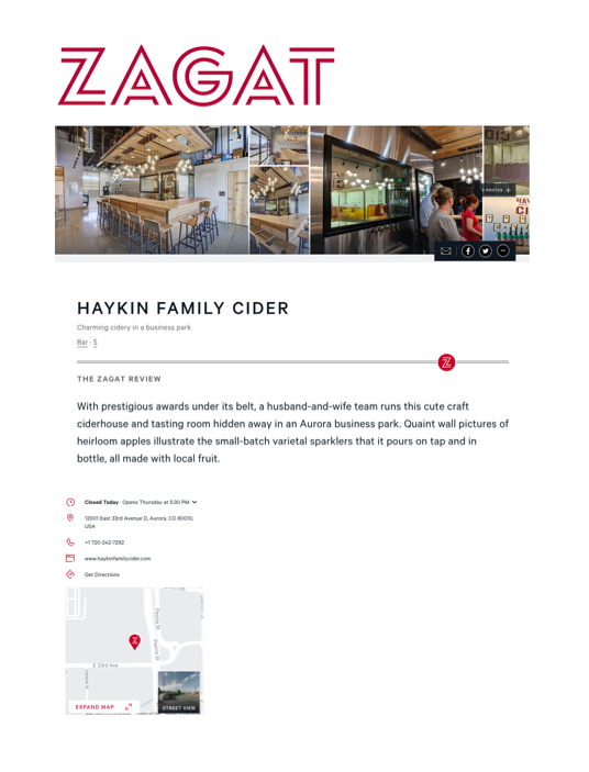 Zagat Business Listing