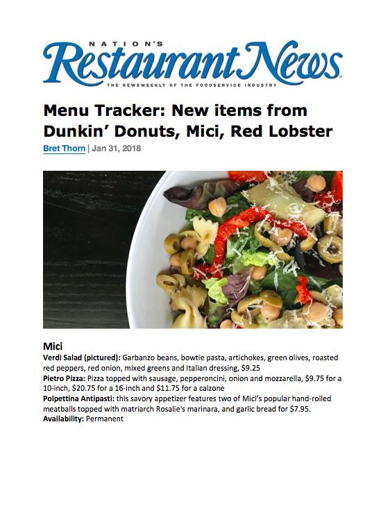 Nations Restaurant News New Menu Items