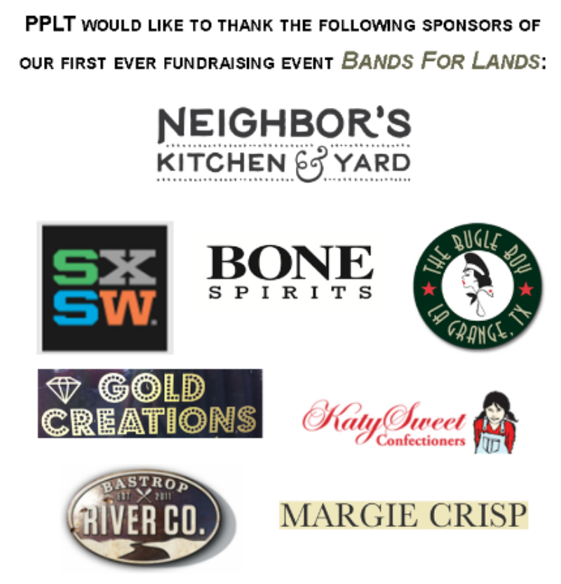 Neighbor's Kitchen & Yard, SXSW, Bone Spirits, The Bugle Boy, Gold Creations, Bastrop River Company, Margie Crisp and KatySweet Confectioners