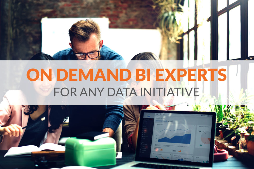 On-Demand BI Experts for any Data initiative