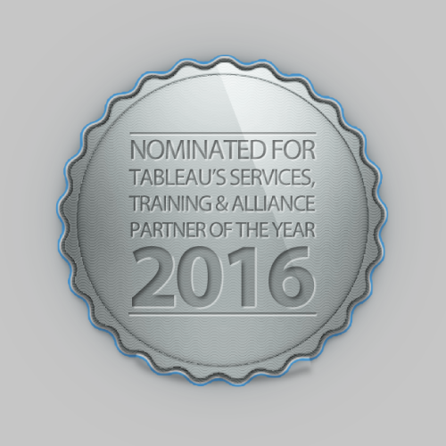 Nominated for Tableau's Services, Training & Alliance Partner of the year 2016 at the Tableau Partner Summit