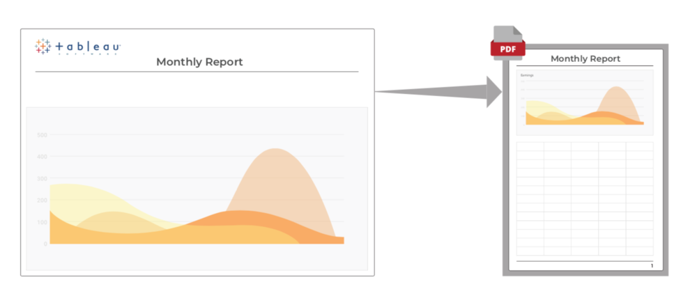 Tableau Pixel Perfect Reporting
