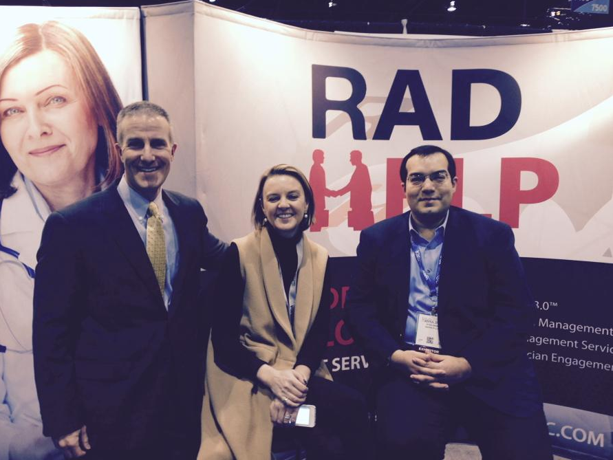 @DrGMcGinty and @RichDuszak visiting the RadHelp Booth