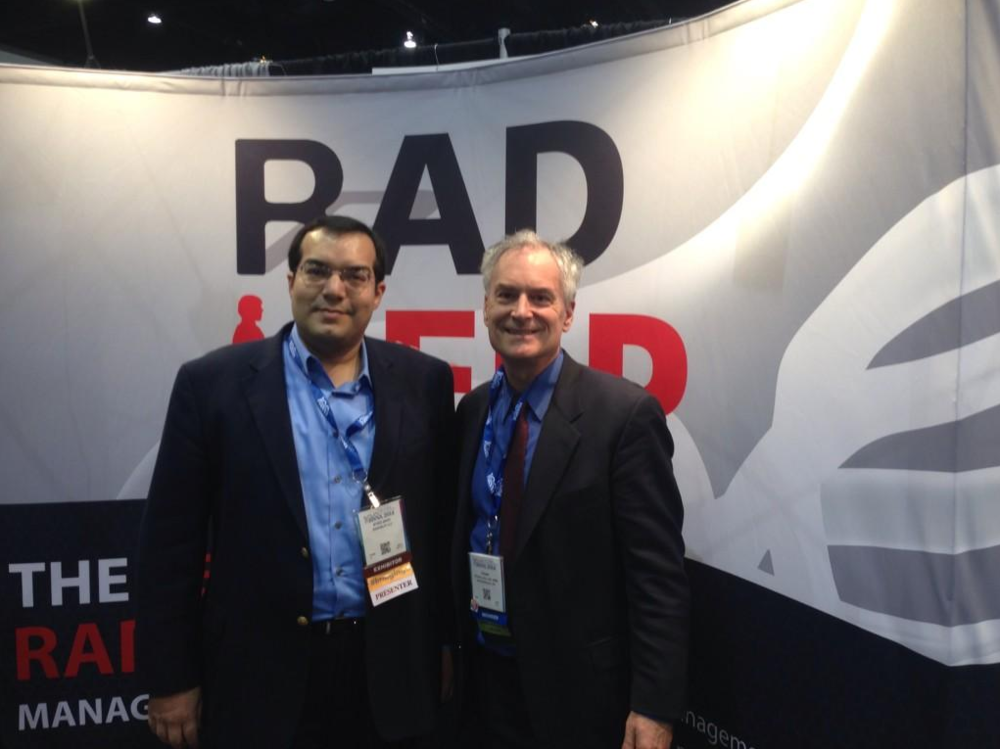 Frank Lexa and Dr. Zaidi at the RadHelp booth