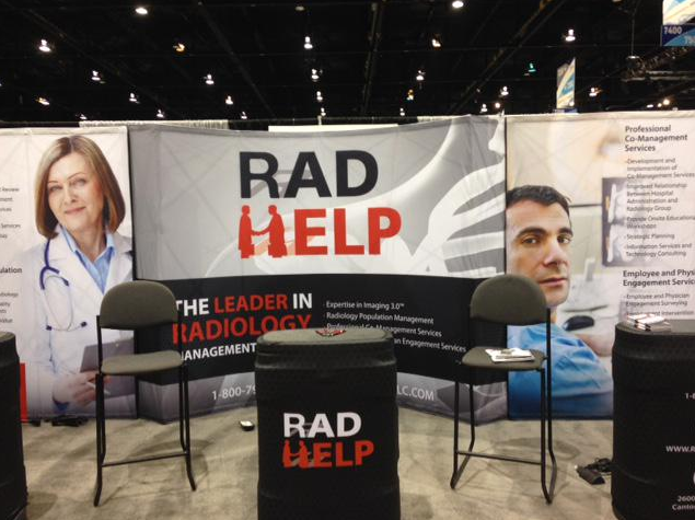 RadHelp Booth set up for RSNA 2014