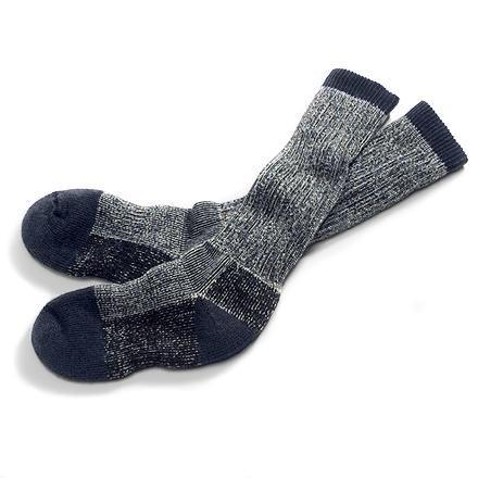 "Merino Expedition Socks  ,  $16                    Normal   0           false   false   false     EN-US   JA   X-NONE                                                                                                                                                                                                                                                                                                                                                                       /* Style Definitions */ table.MsoNormalTable 	{mso-style-name:""Table Normal""; 	mso-tstyle-rowband-size:0; 	mso-tstyle-colband-size:0; 	mso-style-noshow:yes; 	mso-style-priority:99; 	mso-style-parent:""""; 	mso-padding-alt:0cm 5.4pt 0cm 5.4pt; 	mso-para-margin:0cm; 	mso-para-margin-bottom:.0001pt; 	mso-pagination:widow-orphan; 	font-size:12.0pt; 	font-family:Cambria; 	mso-ascii-font-family:Cambria; 	mso-ascii-theme-font:minor-latin; 	mso-hansi-font-family:Cambria; 	mso-hansi-theme-font:minor-latin;}      Those of us who work in northern climes have developed a firm belief in the power of a good pair of wool socks to extend time spent outside in the winter. And socks made from Marino wool, produced by a breed of sheep native to Portugal, are particularly comfortable and wonderfully warm.  REI"