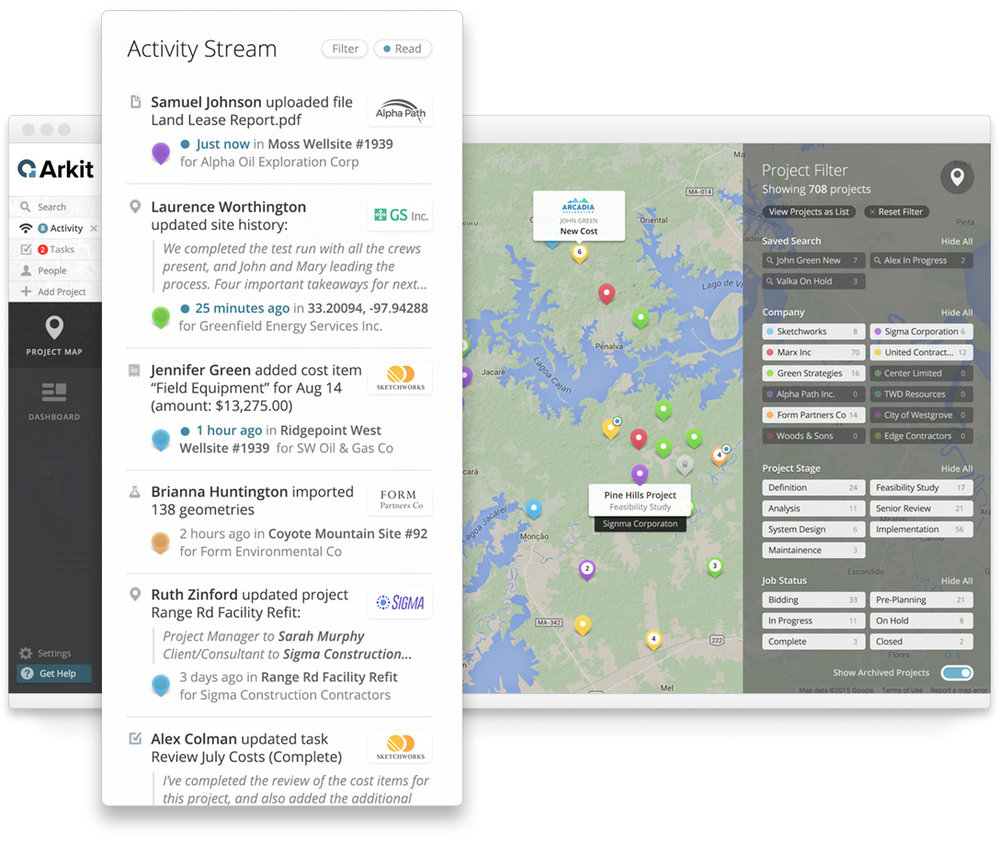 The Activity Stream gives real-time insight on the latest work happening in your projects.