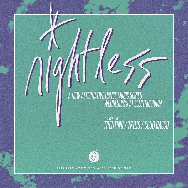 New York we in this b, tonight at @electricroomnyc it's the @nightlessnyc party w @clubcalco. We go on at 12 🎶
