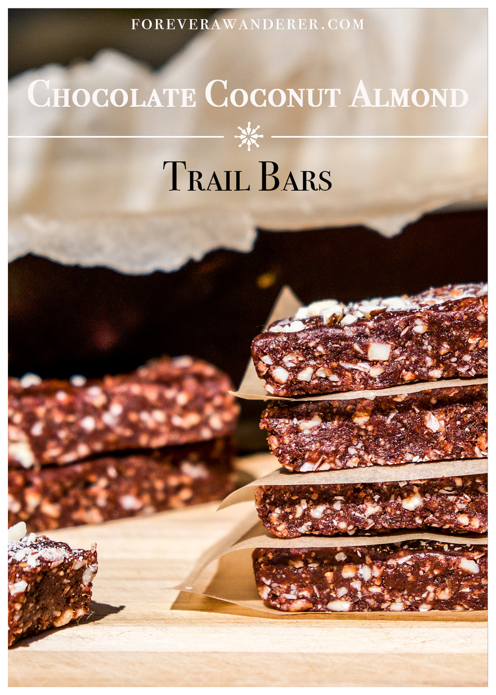 Chocolate Coconut Almond Trail Bars | foreverawanderer.com
