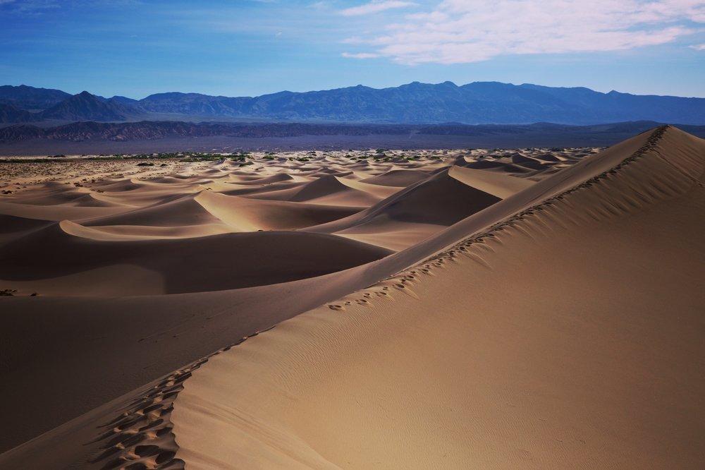 Death Valley National Park, California. Mesquite Sand dunes