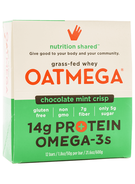 Oatmega chocolate mint crisp bars from Onnit