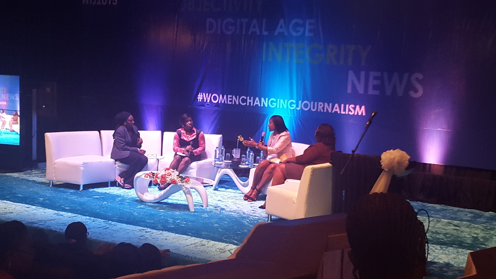 Kadaria Ahmed (moderator), Ijeoma Nwogwugwu and Motunrayo Alaka speak on The Decline of Investigative Journalism