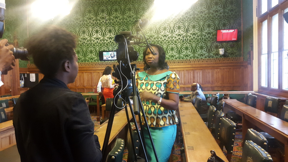 Channels TV UK interview with Hon. Abike Dabiri-Erewa (SSA to President on Foreign Relations  and the Diaspora) after the APPG event