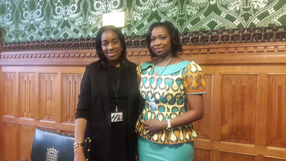 Kate Osamor MP (Chair of APPGN) and Hon. Abike Dabiri-Erewa (SSA to President on Foreign Relations and the Diaspora)