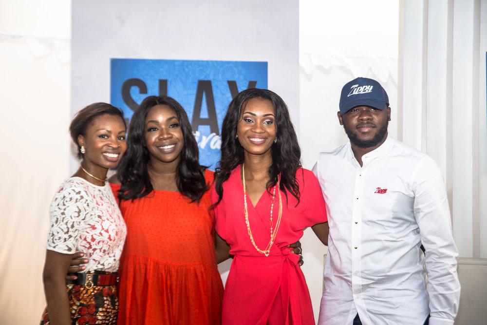 "After my panel ""From Contact to Contract."" L - R: Me, Bukky Karibi-Whyte (The Bobby Taylor Company & Invicta Africa), Rose Umane (BellaNaija) & Kabir Shagaya (Zippy Logistics)"