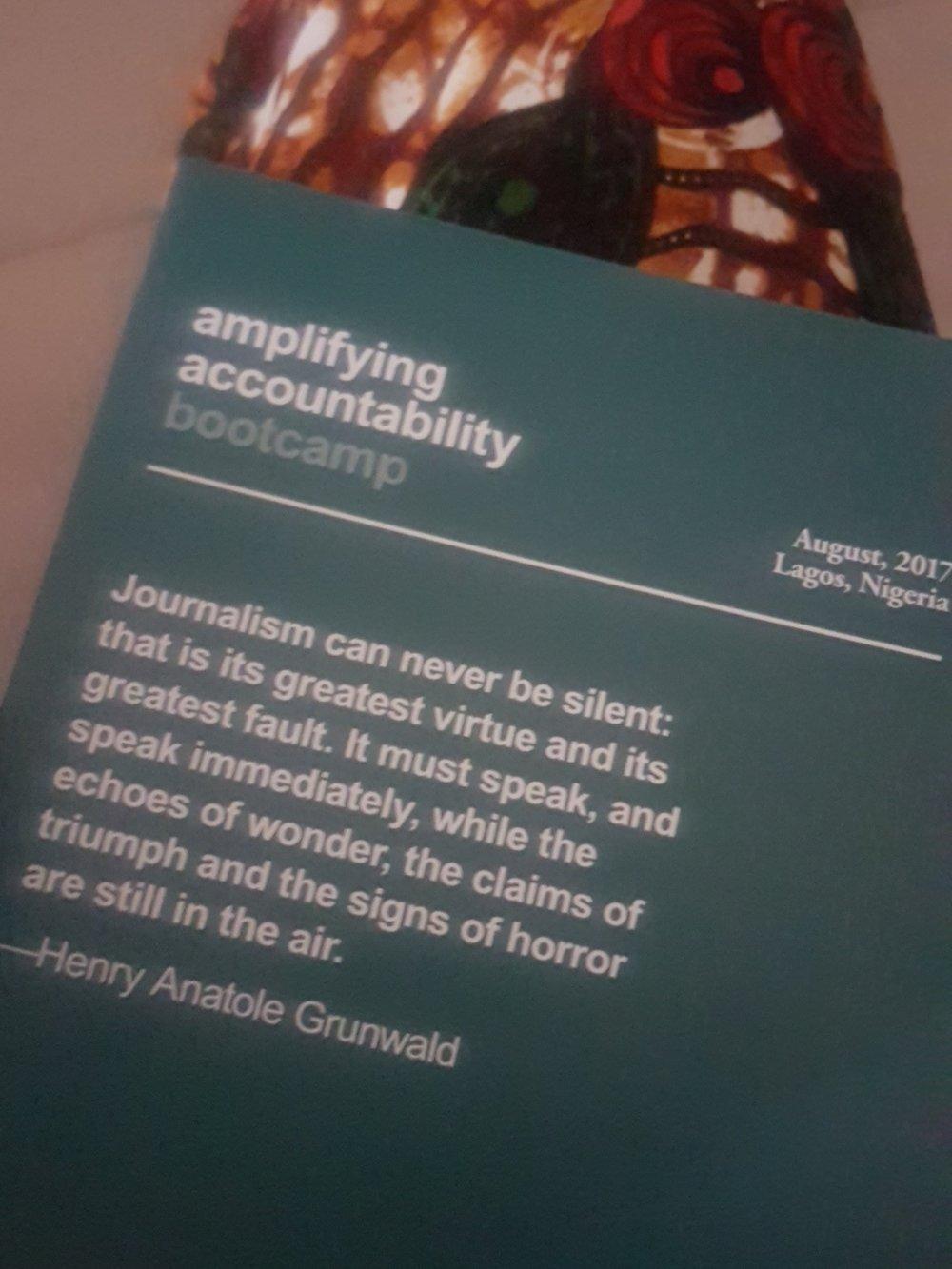"""Amplifying Accountability"" bootcamp, Badagry"
