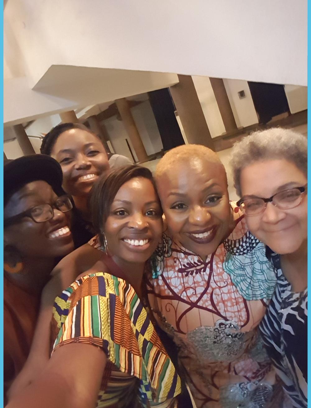 L-R - Timehin Adegbeye (Writer & speaker), Arit Okpo, me, Lola Shoneyin (author & founder of Ake Festival) and Aduke Gomez (poet)