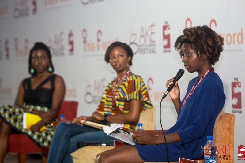 Alexis Okeowo reading a few passages from her book