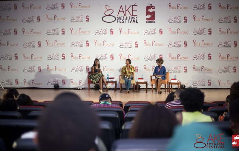 Moderating a book panel at the Ake Books & Art Festival, Abeokuta
